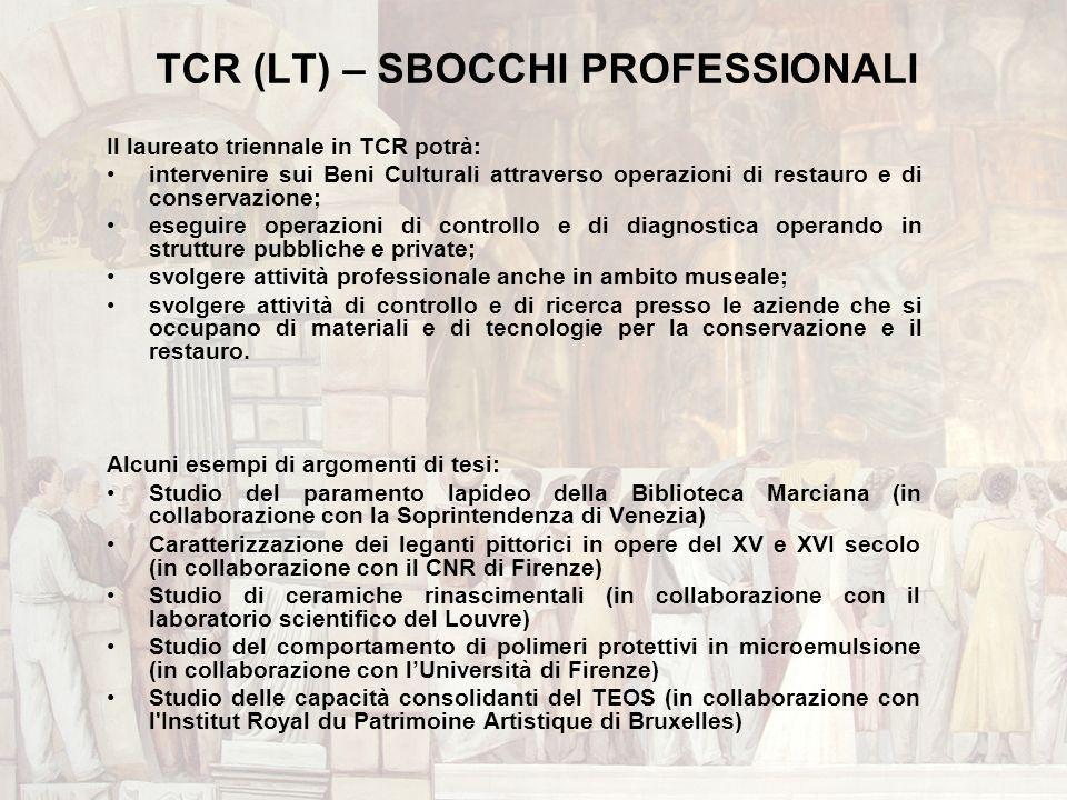 TCR (LT) – SBOCCHI PROFESSIONALI
