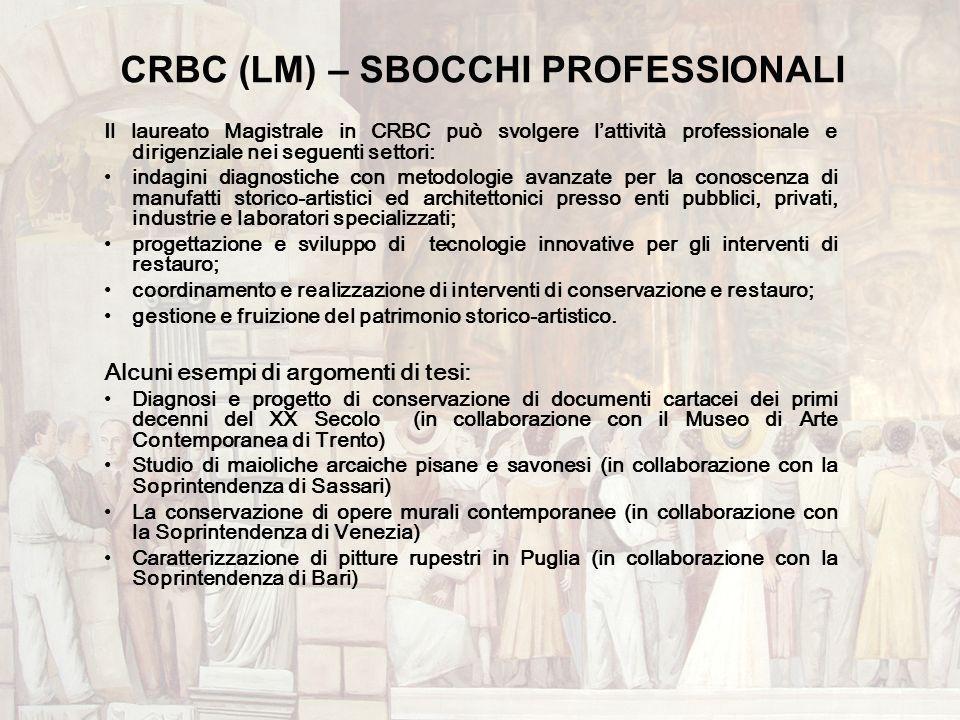 CRBC (LM) – SBOCCHI PROFESSIONALI