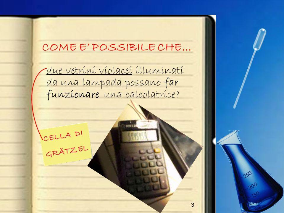 COME E' POSSIBILE CHE… due vetrini violacei illuminati da una lampada possano far funzionare una calcolatrice