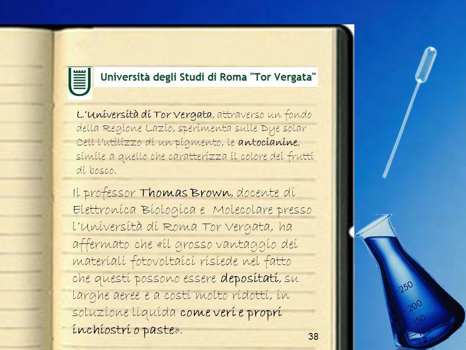 L'Università di Tor Vergata, attraverso un fondo della Regione Lazio, sperimenta sulle Dye solar Cell l'utilizzo di un pigmento, le antocianine, simile a quello che caratterizza il colore dei frutti di bosco.