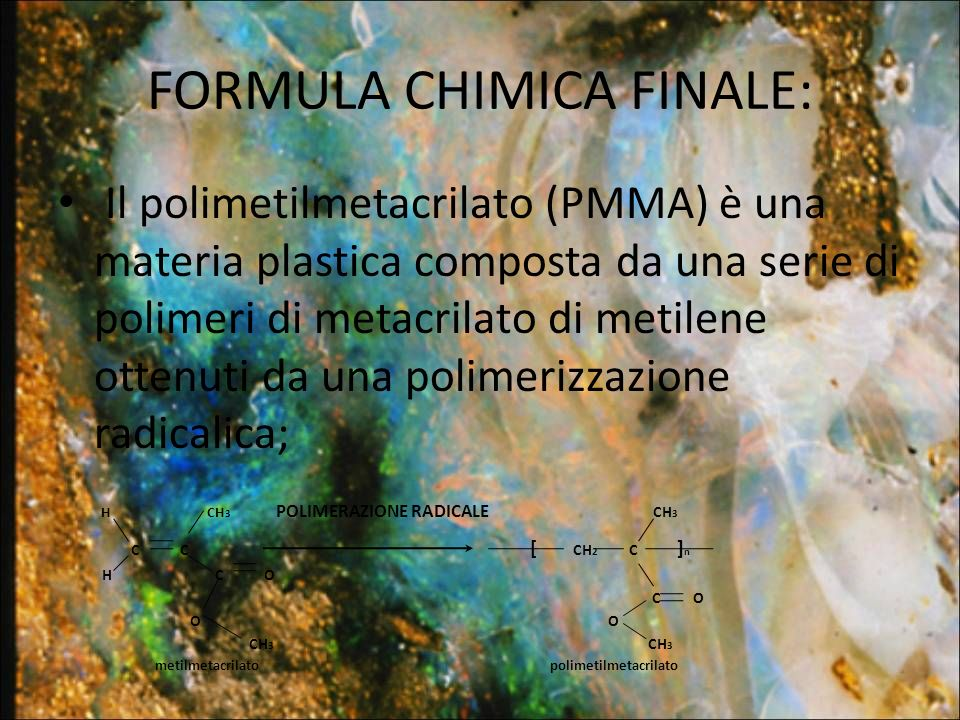 FORMULA CHIMICA FINALE: