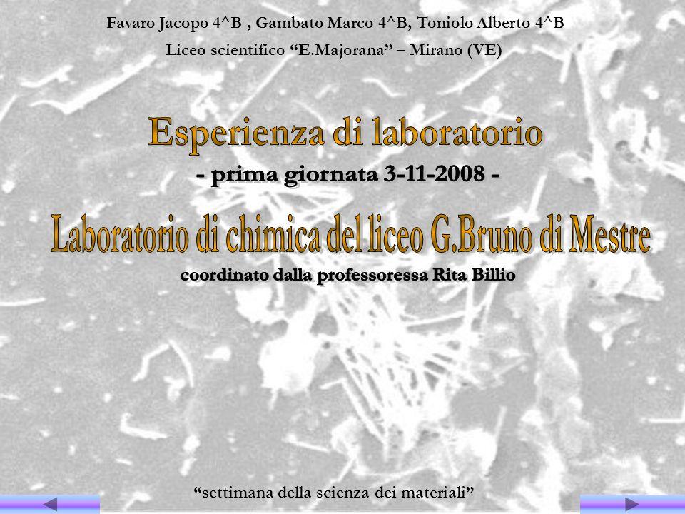 Esperienza di laboratorio - prima giornata 3-11-2008 -