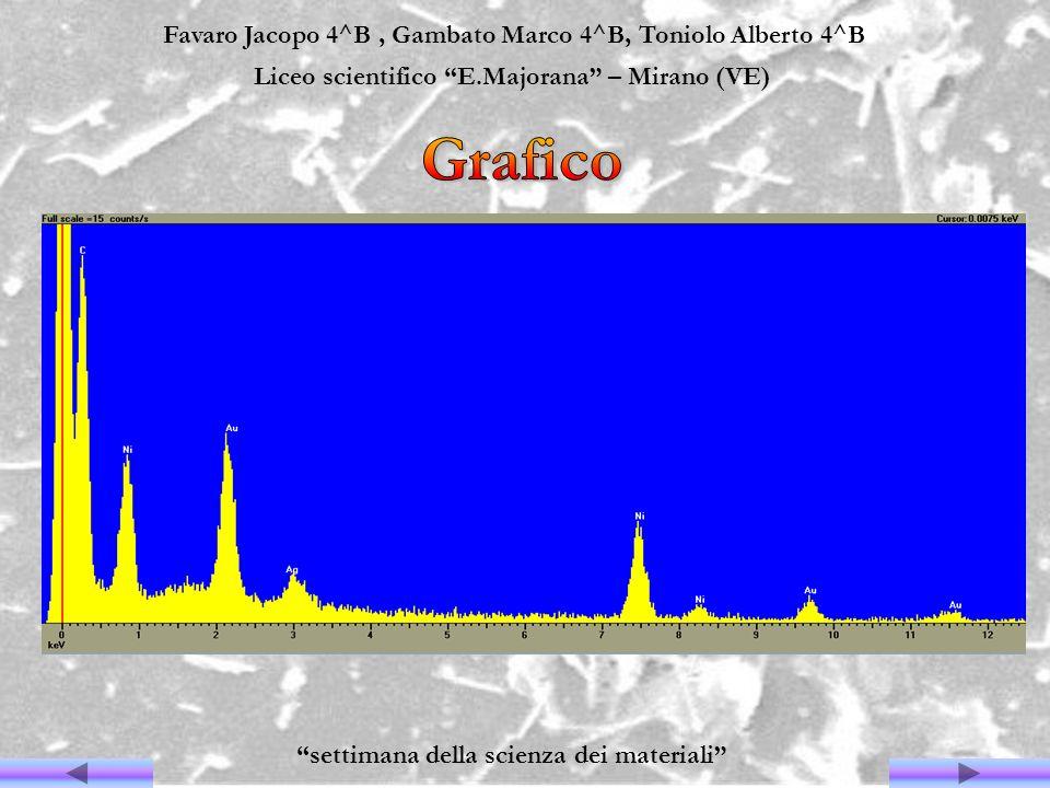 Grafico Favaro Jacopo 4^B , Gambato Marco 4^B, Toniolo Alberto 4^B
