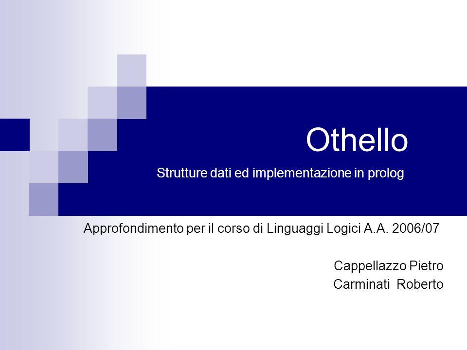 Othello Strutture dati ed implementazione in prolog
