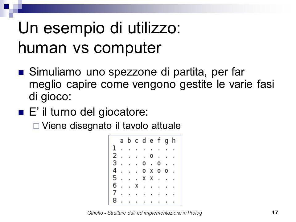 Un esempio di utilizzo: human vs computer
