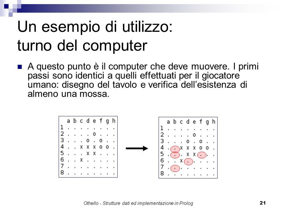 Un esempio di utilizzo: turno del computer