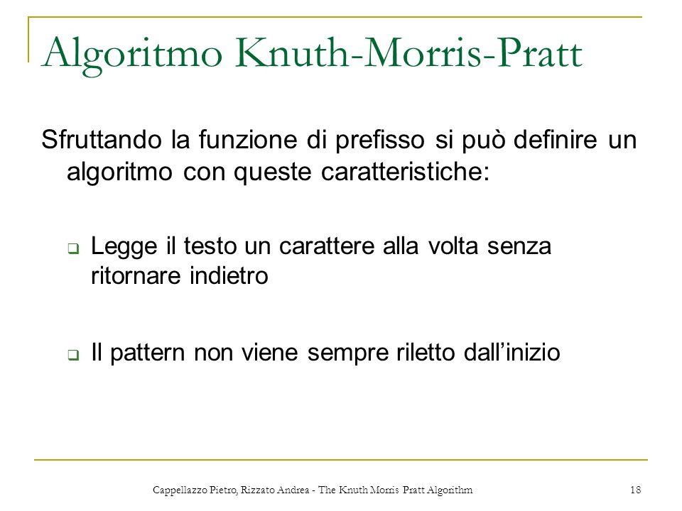 Algoritmo Knuth-Morris-Pratt