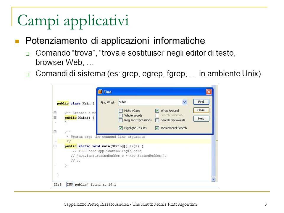 Cappellazzo Pietro, Rizzato Andrea - The Knuth Morris Pratt Algorithm