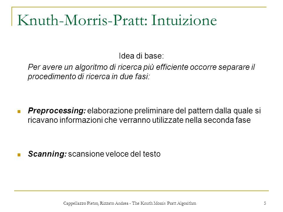 Knuth-Morris-Pratt: Intuizione