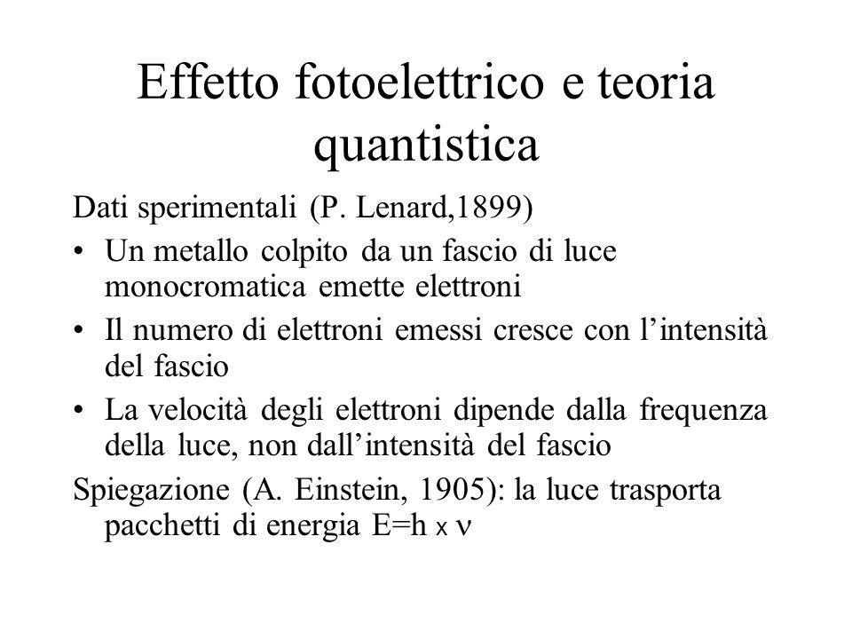 Effetto fotoelettrico e teoria quantistica