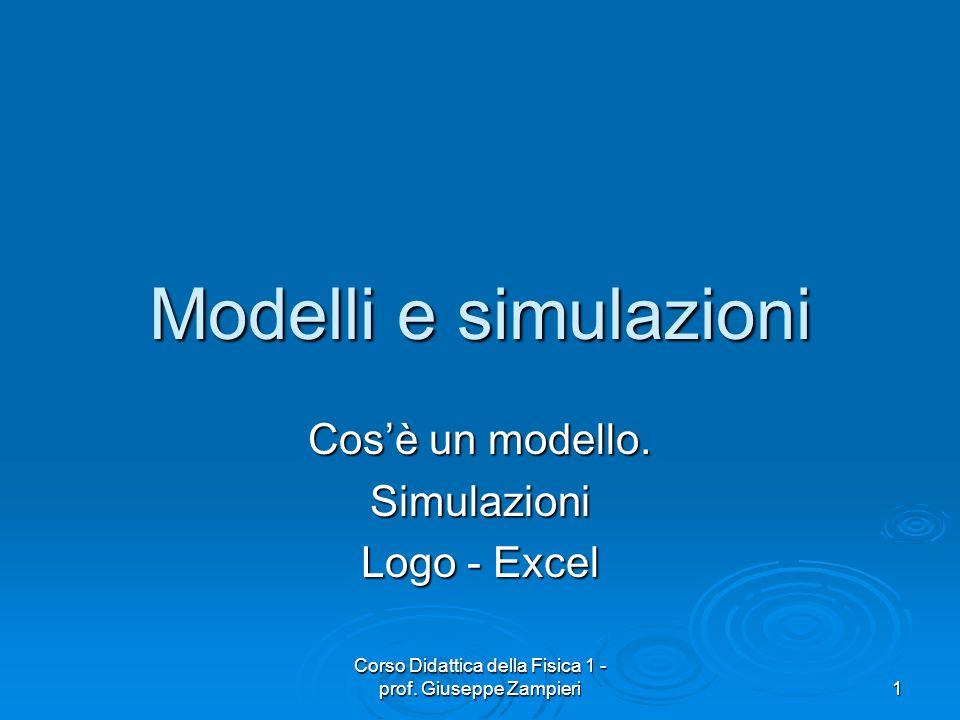 Cos'è un modello. Simulazioni Logo - Excel