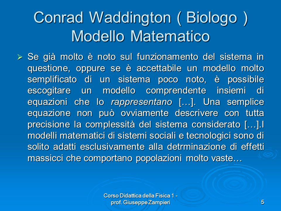 Conrad Waddington ( Biologo ) Modello Matematico