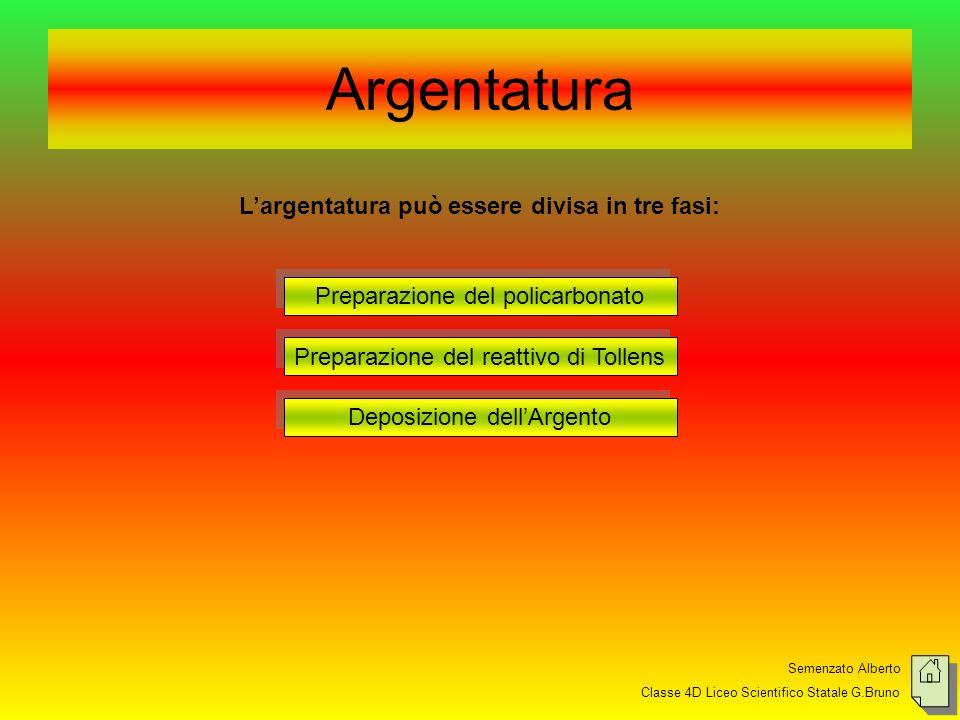 L'argentatura può essere divisa in tre fasi: