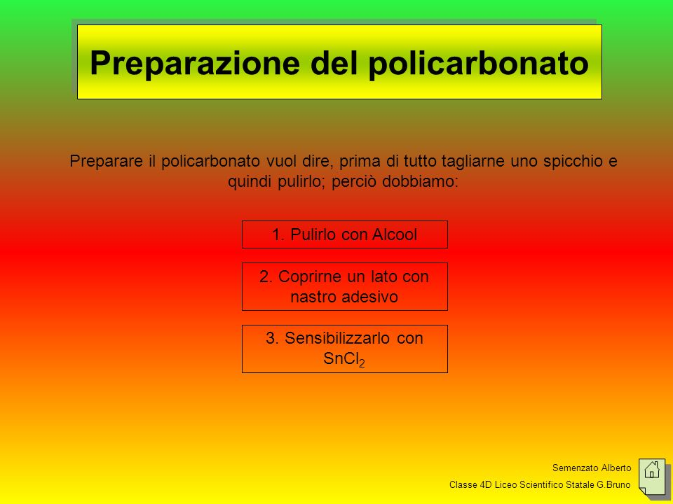 Preparazione del policarbonato