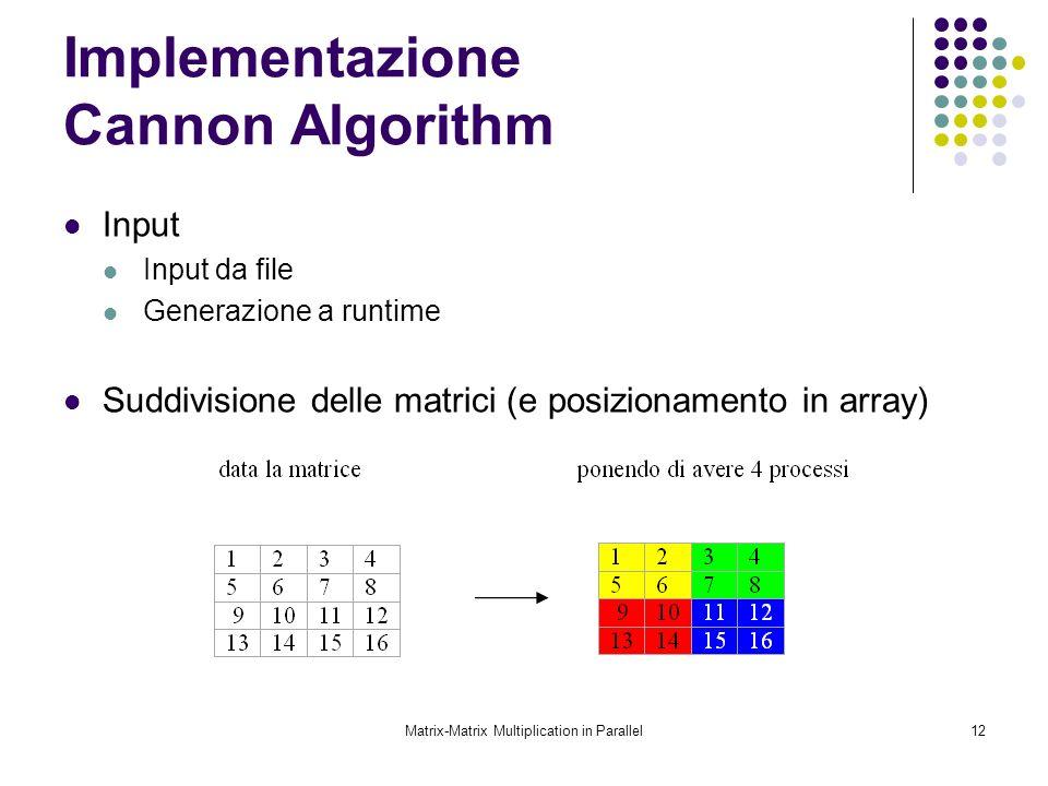 Implementazione Cannon Algorithm