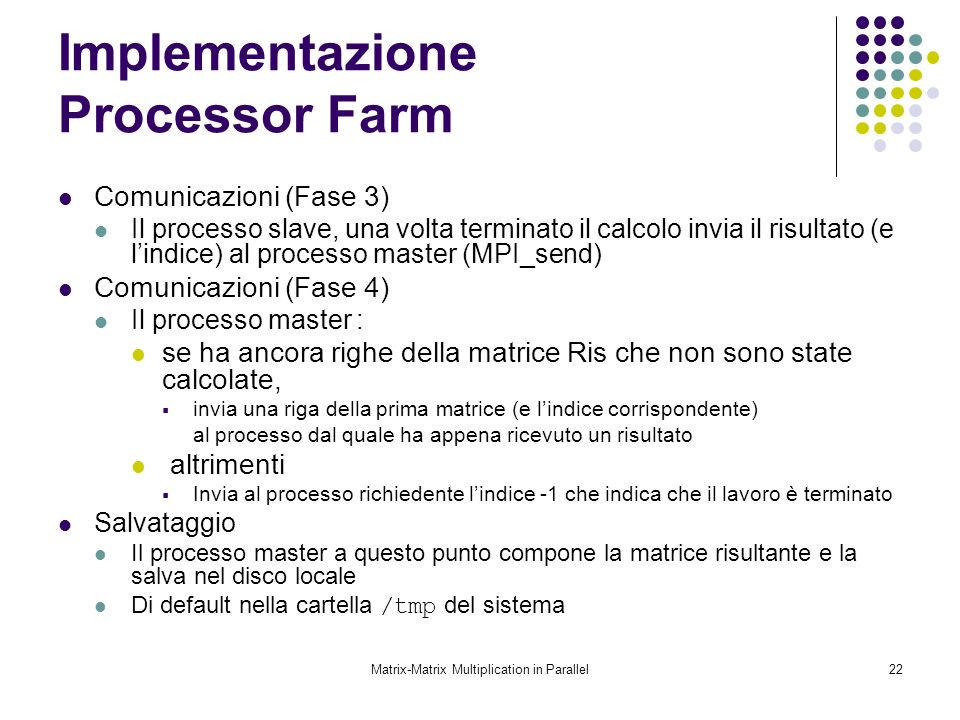 Implementazione Processor Farm
