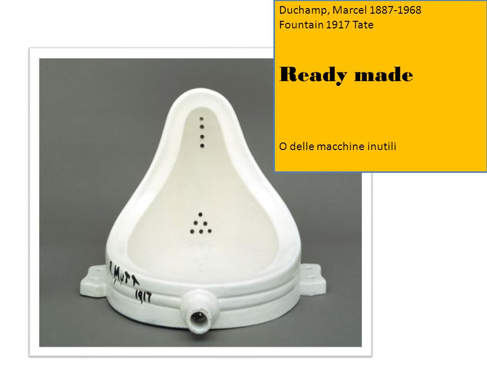 Ready made Duchamp, Marcel 1887-1968 Fountain 1917 Tate
