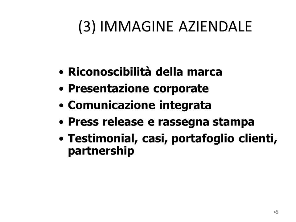 (3) IMMAGINE AZIENDALE Riconoscibilità della marca