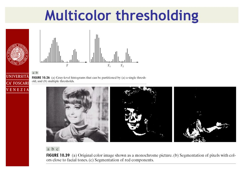 Multicolor thresholding