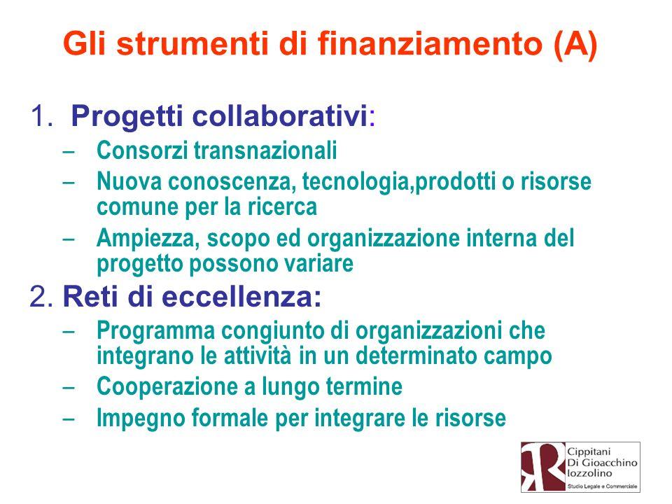 Gli strumenti di finanziamento (A)