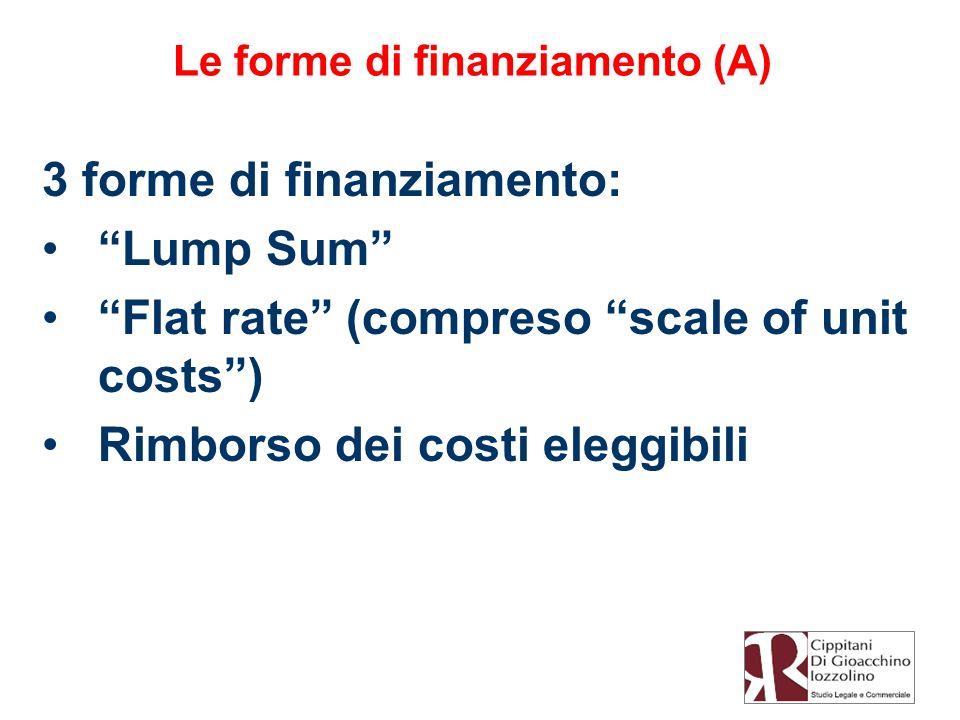 Le forme di finanziamento (A)