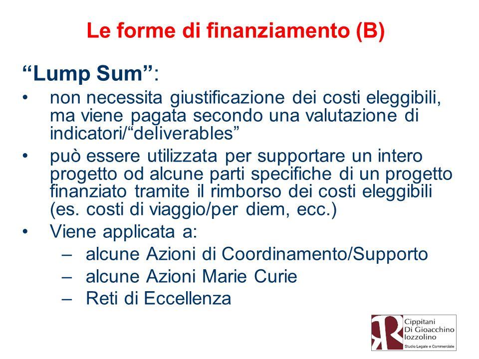 Le forme di finanziamento (B)