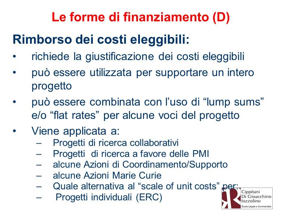 Le forme di finanziamento (D)