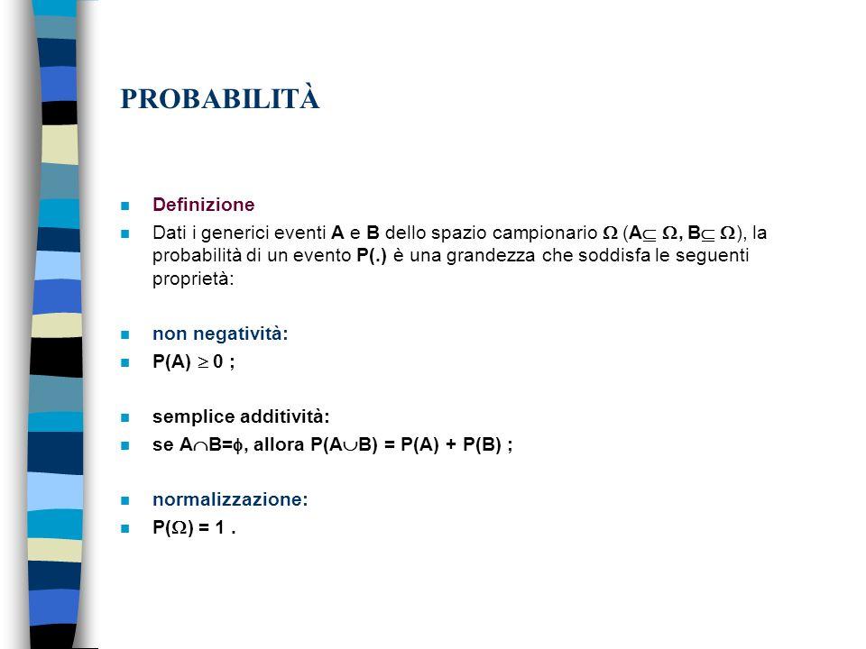 PROBABILITÀ Definizione