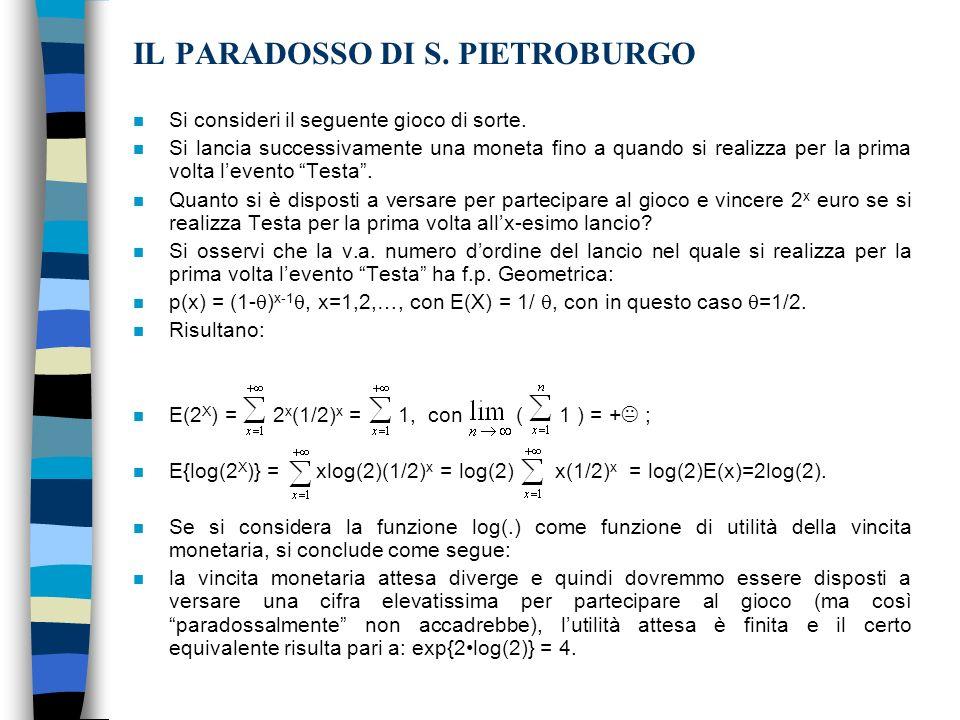 IL PARADOSSO DI S. PIETROBURGO