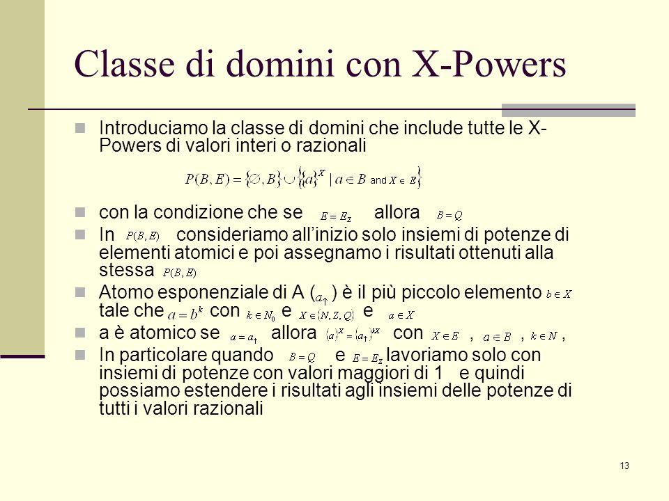 Classe di domini con X-Powers