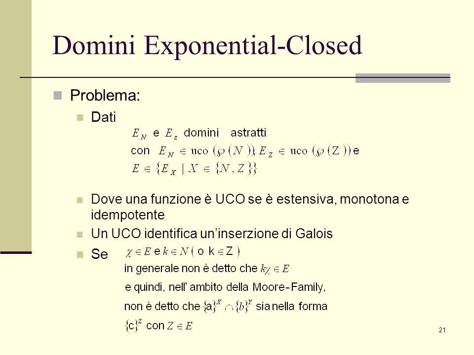 Domini Exponential-Closed