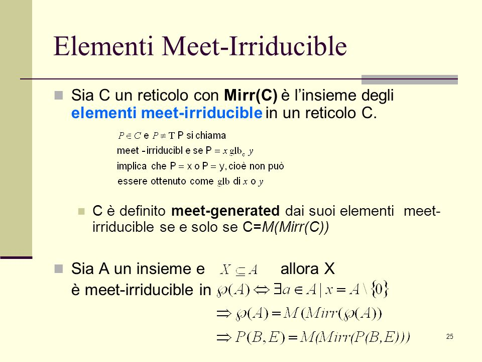 Elementi Meet-Irriducible