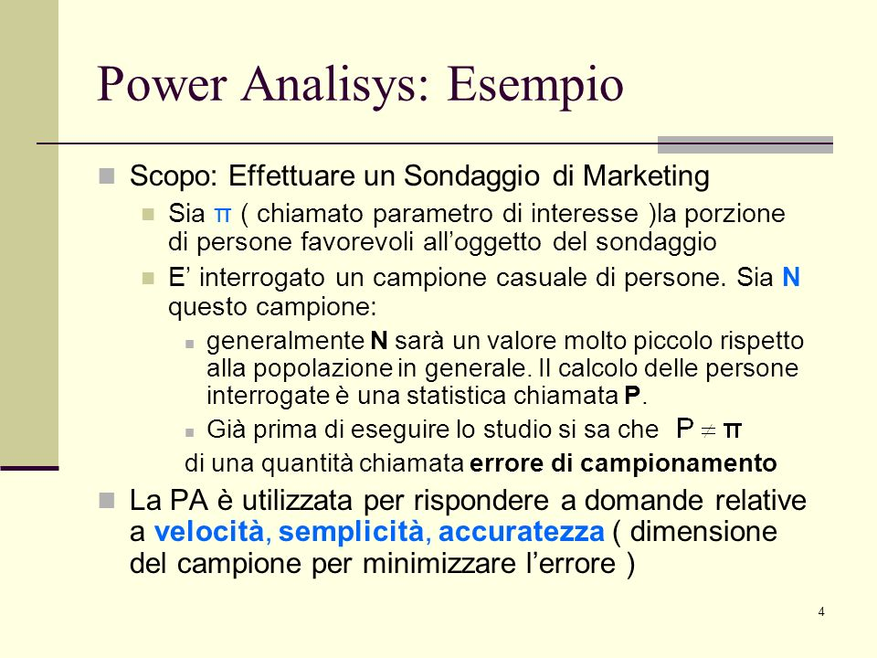 Power Analisys: Esempio