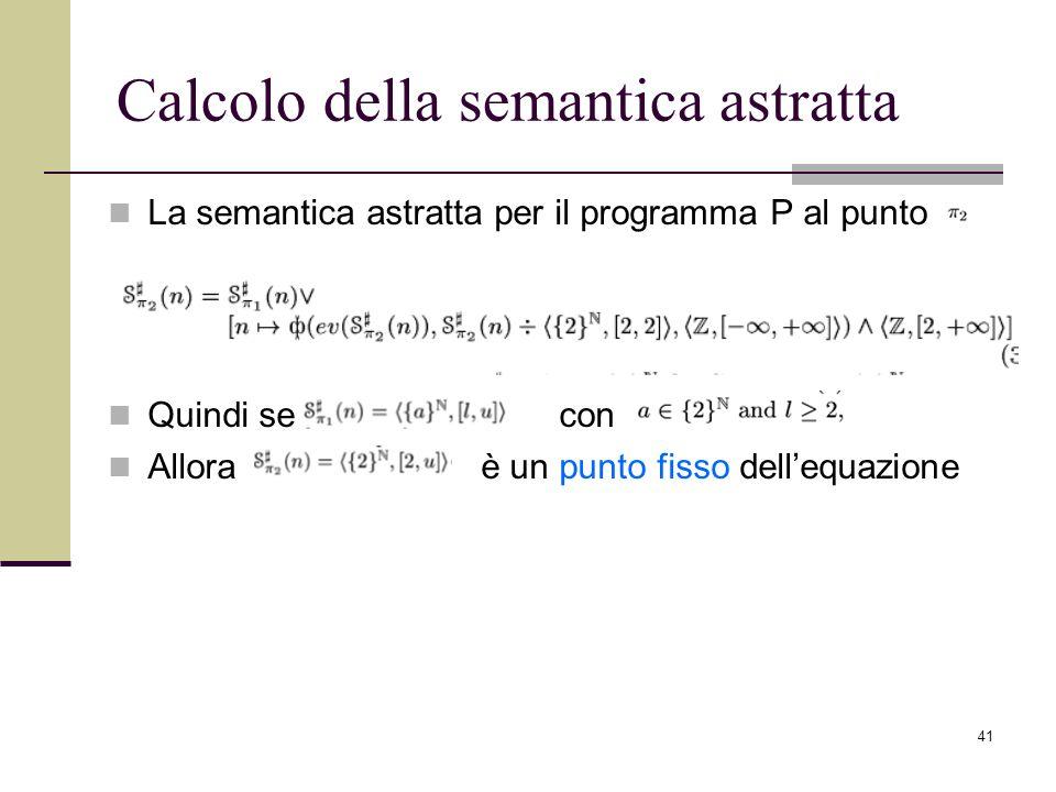 Calcolo della semantica astratta