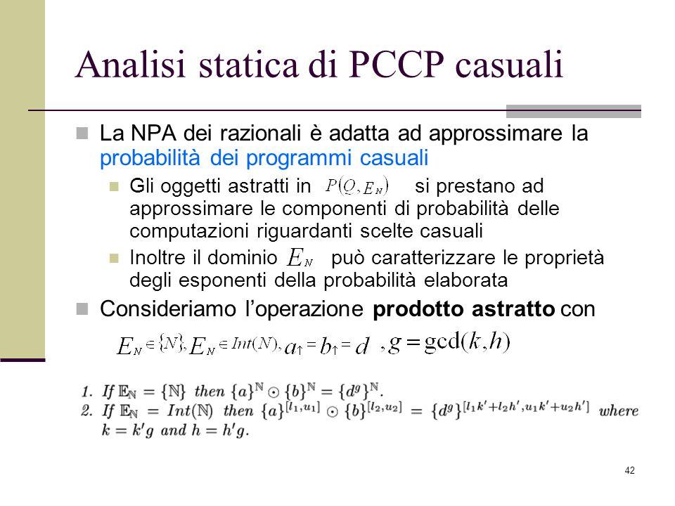 Analisi statica di PCCP casuali