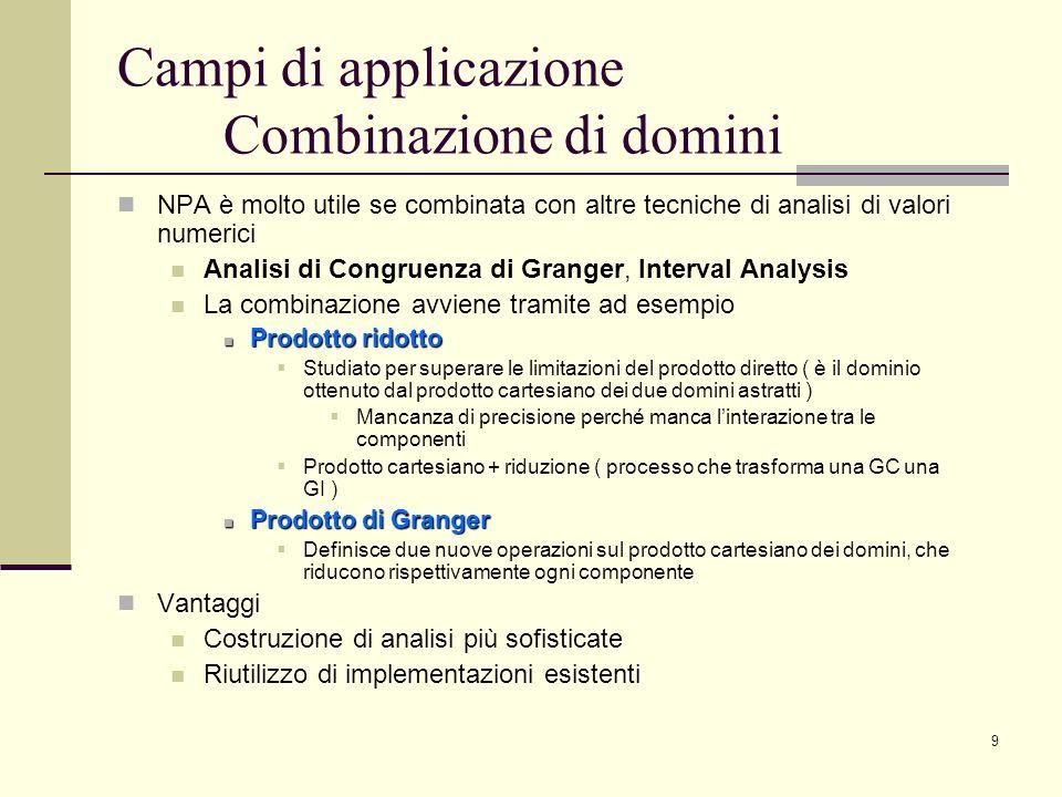 Campi di applicazione Combinazione di domini