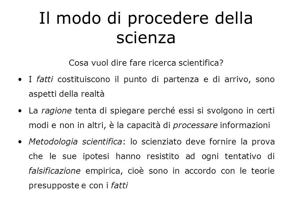 Il modo di procedere della scienza