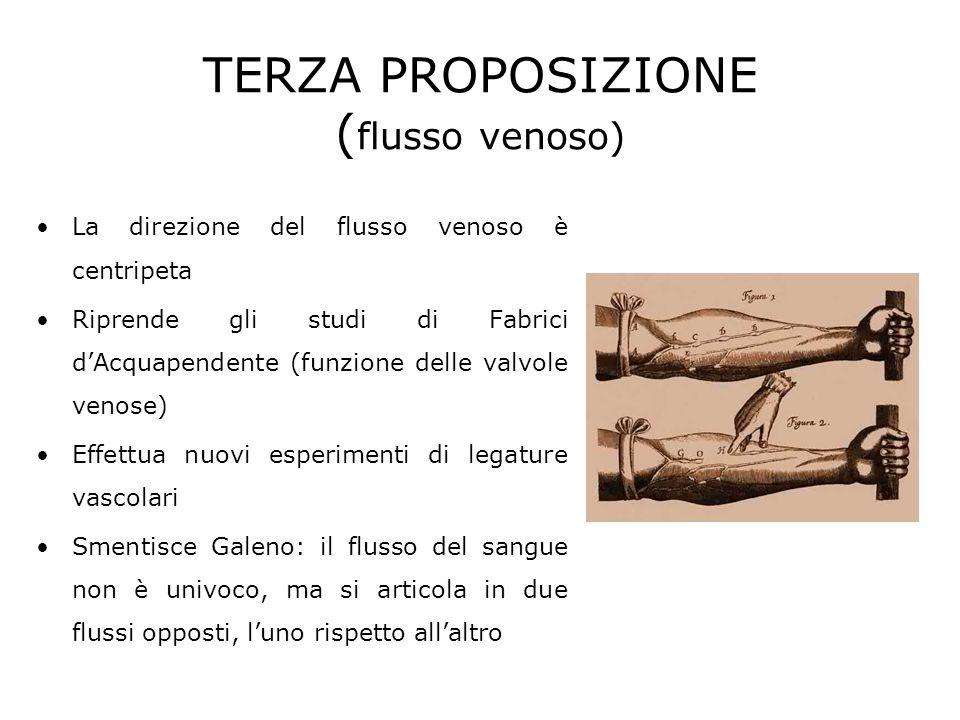 TERZA PROPOSIZIONE (flusso venoso)