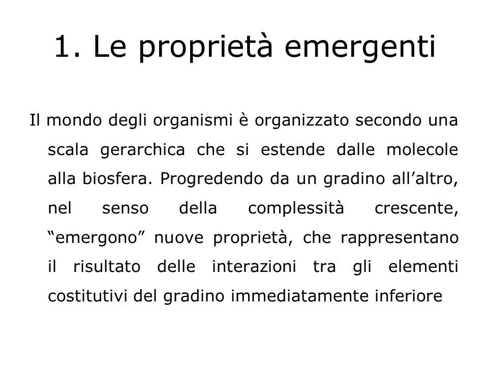 1. Le proprietà emergenti