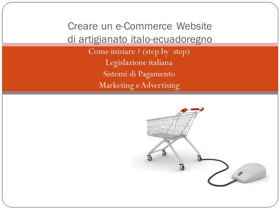 Creare un e-Commerce Website di artigianato italo-ecuadoregno