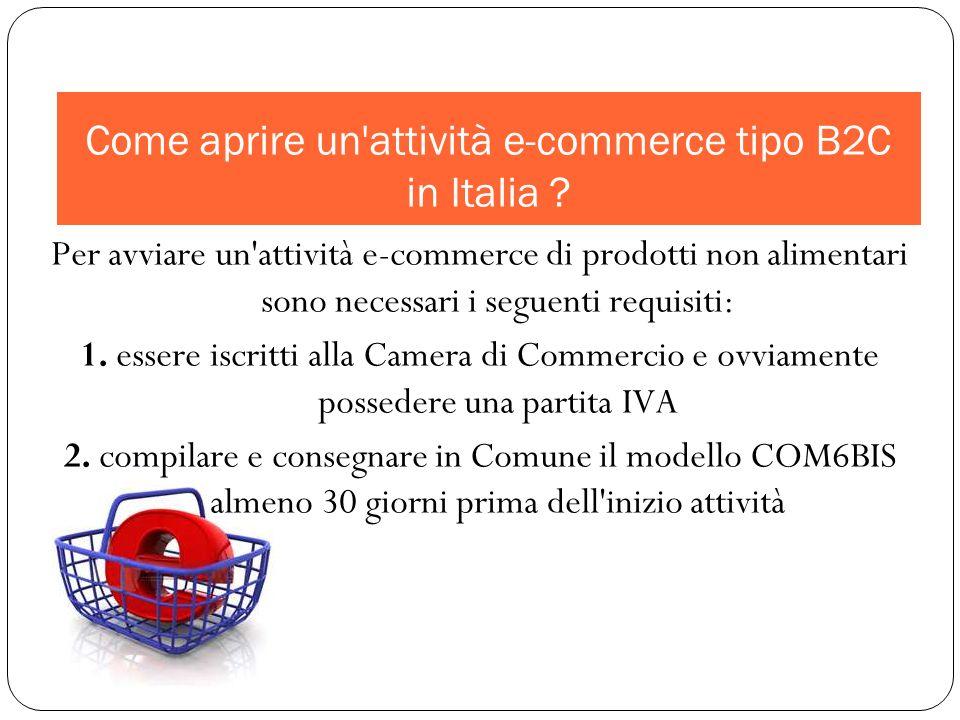 Come aprire un attività e-commerce tipo B2C in Italia