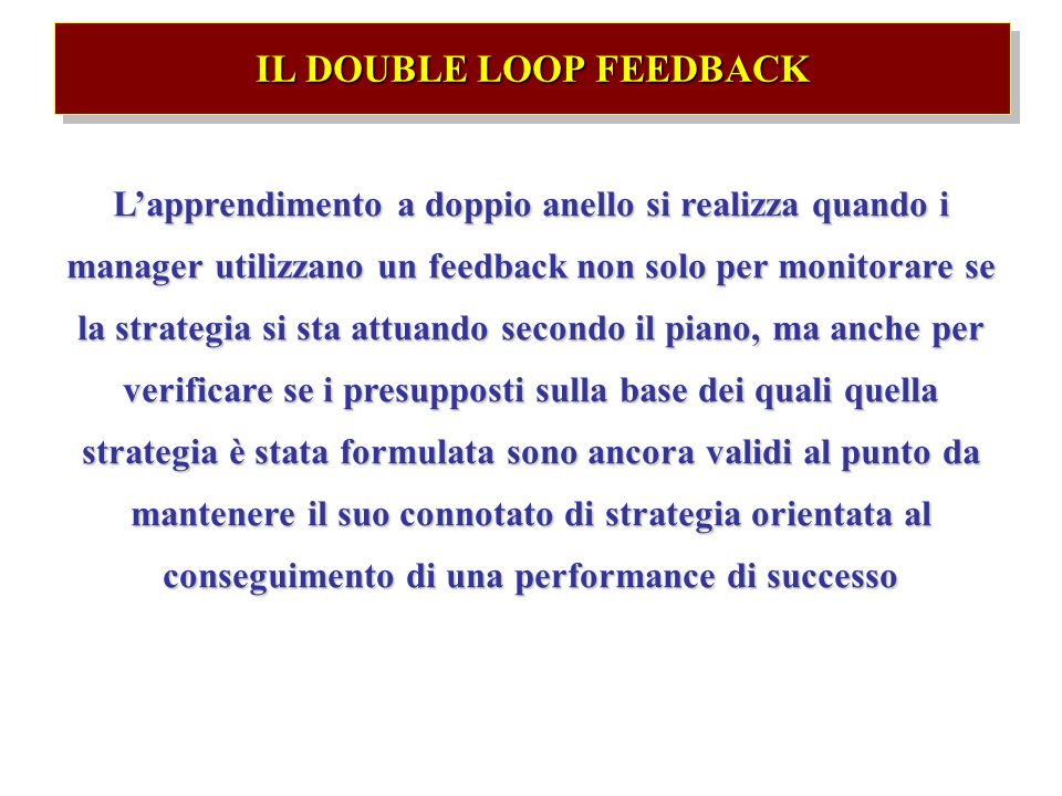 IL DOUBLE LOOP FEEDBACK
