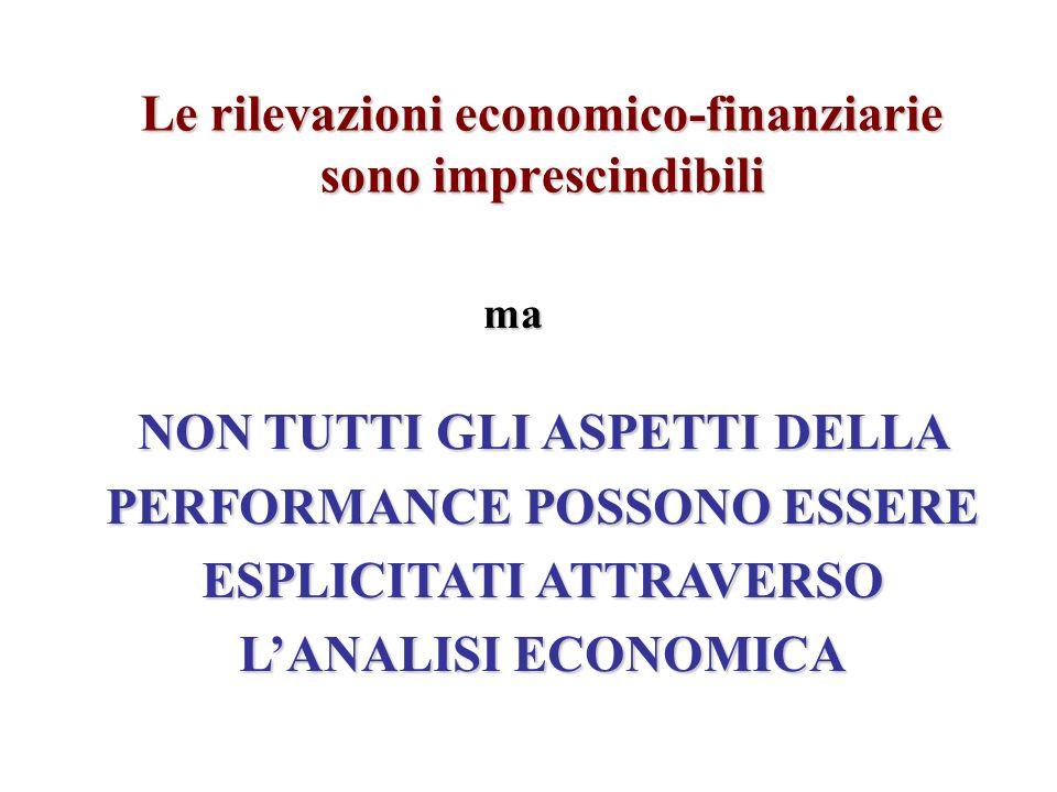 Le rilevazioni economico-finanziarie sono imprescindibili