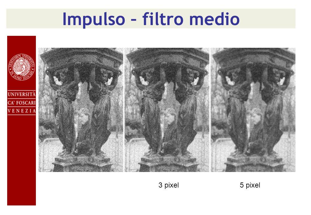 Impulso – filtro medio 3 pixel 5 pixel