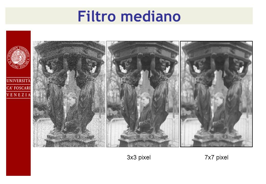 Filtro mediano 3x3 pixel 7x7 pixel