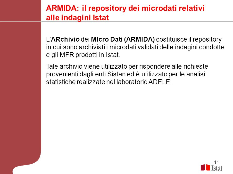 ARMIDA: il repository dei microdati relativi alle indagini Istat