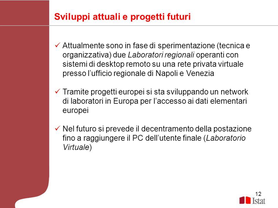 Sviluppi attuali e progetti futuri