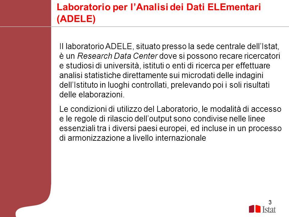 Laboratorio per l'Analisi dei Dati ELEmentari (ADELE)