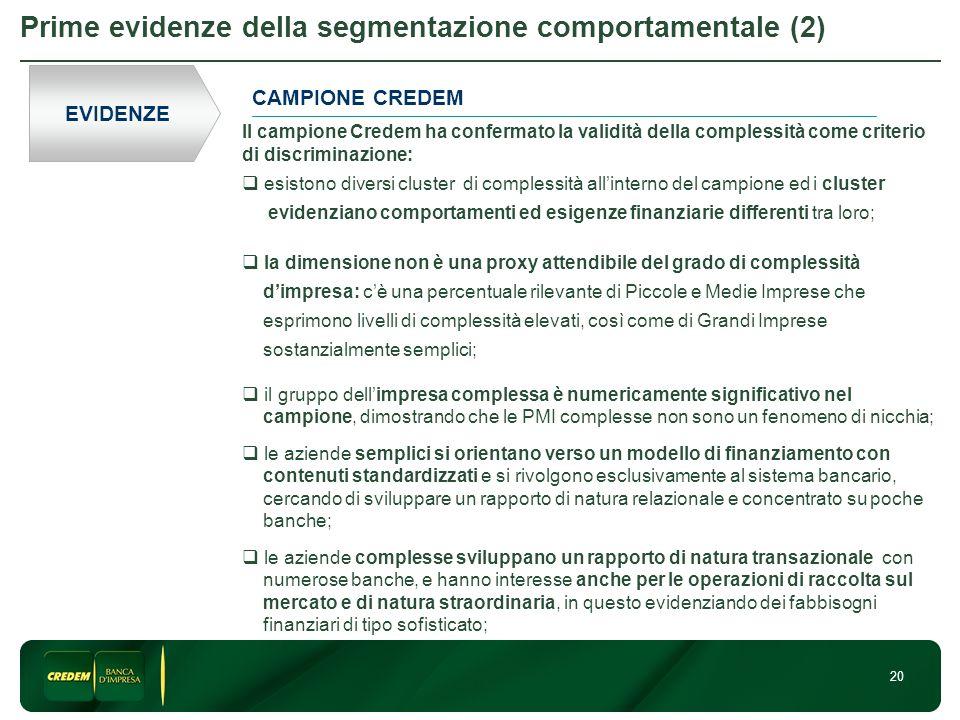 Prime evidenze della segmentazione comportamentale (2)