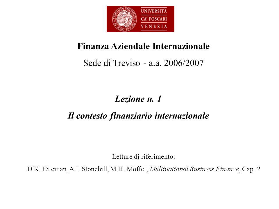 Il contesto finanziario internazionale